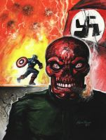 Red Skull and Captain America by adamgeyer