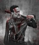 Negan fanart by bbluyei