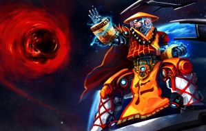 Galactic Pilgrim Lee Sin by narm