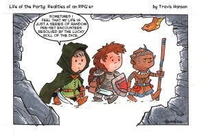 controlled by dice : Rpg comic by travisJhanson