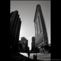 Flat Iron against the Sky by audeladesombres