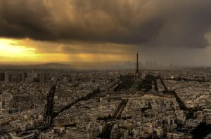 Paris Storm by Rachpushkaniev
