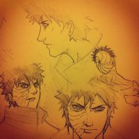 Obito Sketches by blacknoise