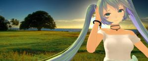 MMD - Miku TDA White Dress Cry (Unedited Ver.) by MikuHatsune01