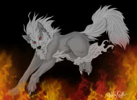 .:: Dark Mystic Arcanine::. by WhiteSpiritWolf
