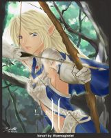 Lineage II Fanart: Elf Fighter by Waenaglariel