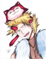Sting and lector copiart :3 by HachiroAkira