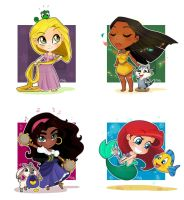 Chibi Disney Girls 0 by Malycia