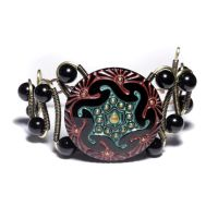 Steampunk Art Deco Bracelet by CatherinetteRings