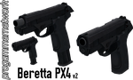 Beretta PX4 v2 - Rigged (Quick Update) by ProgammerNetwork