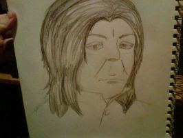 Realistic style test - Snape by Sicklesium