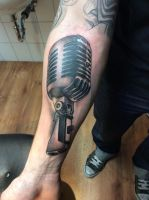 Tattoo - microphone by Xenija88