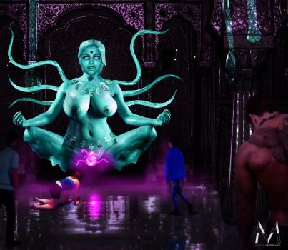 Kali's Lustful Vortex by MightyMorphian