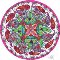 Fountain Mandala by PeriwinklePaisley