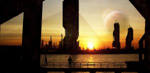 Sunset in 2054 by misterCromat