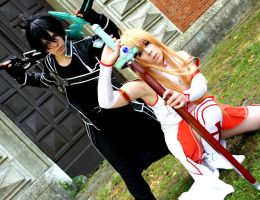 [Cosplay] SWORD ART ONLINE - Kirito and Asuna by K-I-M-I