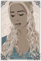 GAME OF THRONES - DAENERYS TARGARYEN - poster by P-Lukaszewski