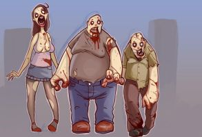 zombies by glooh