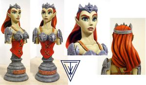 The Goblin Queen - bust sculpt by Timbone