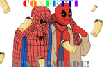 Spiderman and Deadpool - CONFETTI by ShadoeKat