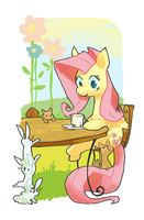 Fluttershy with Animals by Nifty-senpai