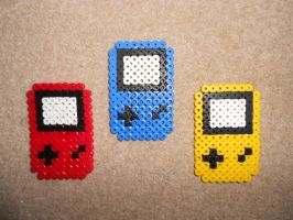 Hama Bead Gameboys by Dr-Quollchops