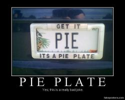 Pie License Plate by Onikage108
