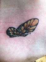 Butterfly Tattoo by clearfishink
