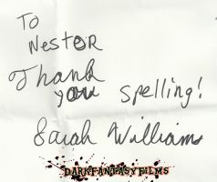 Sara Williams Autograph by xxXSketchBookXxx