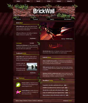Brick Wall by Firless