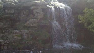 Waterfall from the front by LottsofRandom
