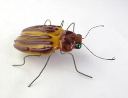 Colorado Potato Beetle  Fused Glass Sculpture 2 by trilobiteglassworks