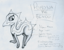 Pomona Ref Sheet - Lost Drawing by Blooxi
