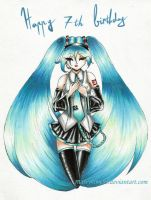 Miku 7 birthday by Marryhime94