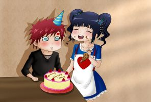 Happy Birthday Gaara 2013 - chibi version by Pitukel