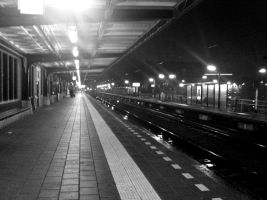 Waiting at the train station by Liquid2ubstanc3