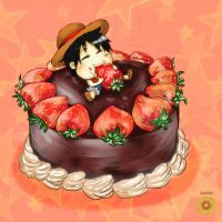 Chibi Luffy by Mafkin