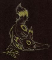 Stretching Umbreon by WPgdea
