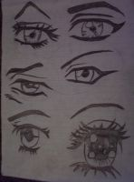Anime Eyes by quickwing23