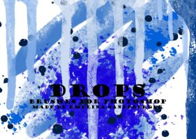 DROPS - 9 brushes for photoshop by EmelinaS