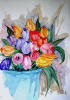 First tulips of the season by lapoall