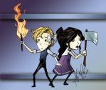 Twigs and Izzy - Don't Starve Together by Isadora-Legata