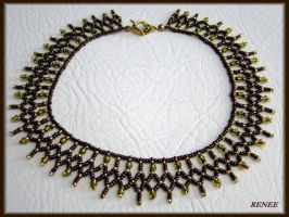 Bronze and olive collar by jasmin7