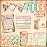 Alice in Wonderland Decoration Pack by miabumbag