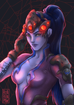 [Overwatch] Widowmaker fanart by Ryarenpaw