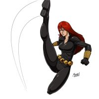 Stream - Black Widow (Colored) by SeanRM