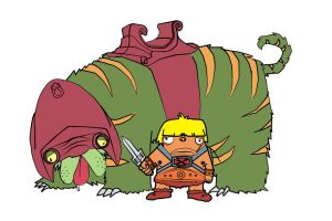 He-Man + the mighty Battlecat by The-Hat-77
