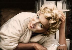 Marilyn Monroe Digital Paintbrush by Nakailustrador