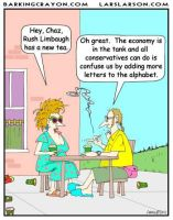 Rush Limaugh's Tea cartoon by Conservatoons