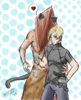 Neko PH x Leon Kennedy YAOI by MistressPaco